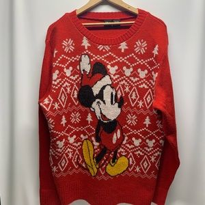 Vintage Large Mickey Mouse Christmas Sweater